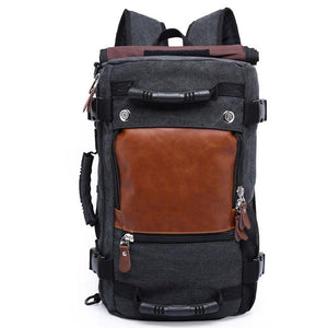 Retro Cylindrical Drum Travel Multi-function Shoulder Bag  Large Outdoor Canvas Backpack For Big Sale!- Fowish.com