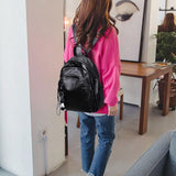Retro Soft PU Multi Zippers School Leisure College Lady Waterproof Lightweight Backpack For Big Sale!- Fowish.com