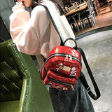 Fashion Women's Mini Sequin Small Badge Digital Star Shiny Student Backpack For Big Sale!- Fowish.com