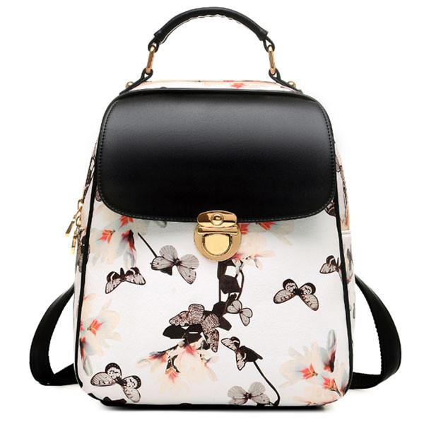 Fresh Girl Butterfly Flower School Bag Casual Backpack - lilyby