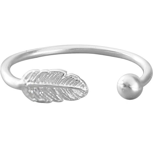 Unique Handmade Silver Feather Open Women Ring For Big Sale!- Fowish.com
