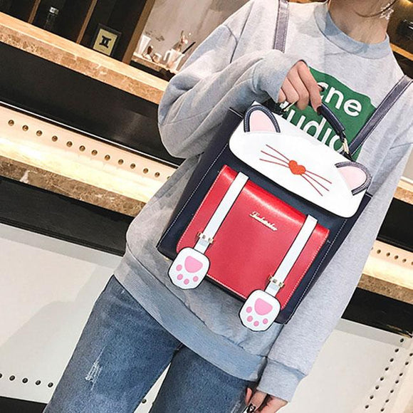 Cute Cartoon Sweet Animal Kitten School Bag Cat Girl Backpack For Big Sale!- Fowish.com