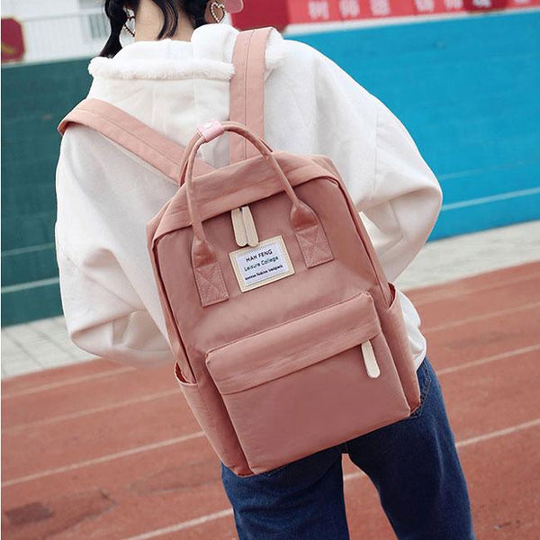 Fresh High School Students Multi-function Campus Shoulder Bag College Canvas Backpack For Big Sale!- Fowish.com