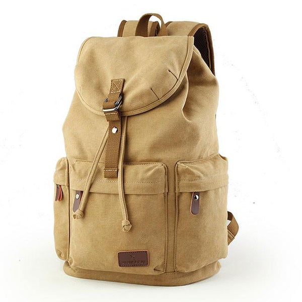 Retro Large Capacity Rucksack With USB Interface Flap Camping Travel Canvas Backpack For Big Sale!- Fowish.com