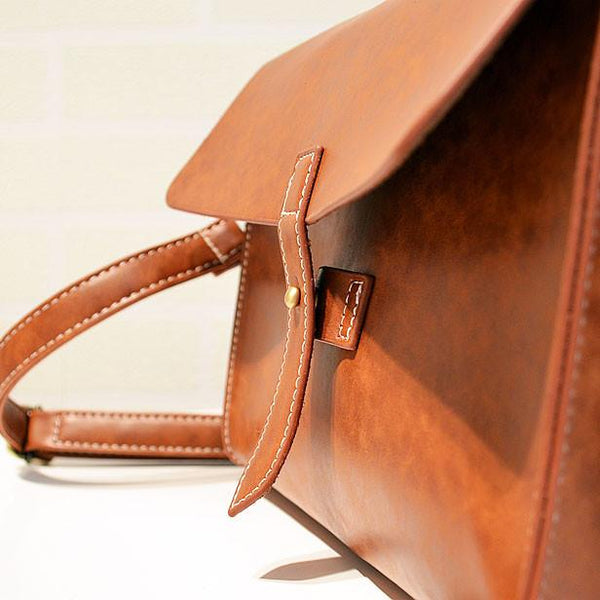 Retro Brown Black Small PU Metal Lock Catch Shoulder Bag For Big Sale!- Fowish.com