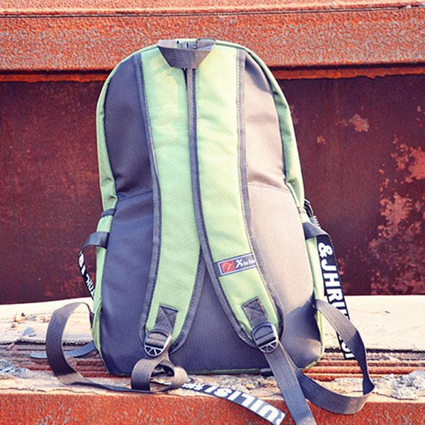 Leisure Men's Play Hard Canvas Travel Bag School Backpack For Big Sale!- Fowish.com