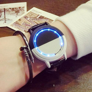 Cool LED Light Touch-screen Control Dial Waterproof Black White Life Tree Simple Watch For Big Sale!- Fowish.com