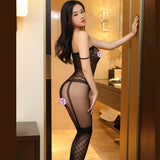 Sexy Mesh Conjoined Stockings Uniform Temptation Hollow Siamese Fishnet Intimate Lingerie