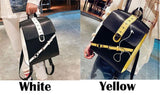 Unique Contrast Color Ruler School Tilt Buckle Square Backpack For Big Sale!- Fowish.com