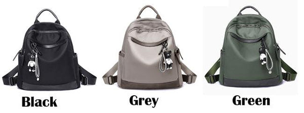 Leisure Oxford Grey Nylon Travel Multi-function School Backpack For Big Sale!- Fowish.com