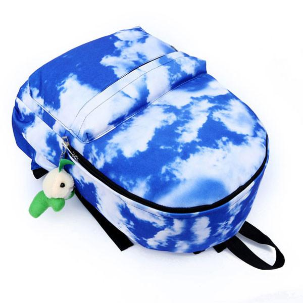 Fresh Cloud Sky College Canvas Backpacks - lilyby