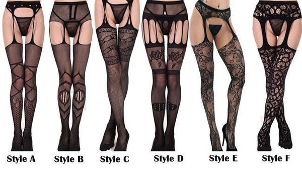 Sexy Perspective Sling Net Stockings Lace Women's Lingerie For Big Sale!- Fowish.com