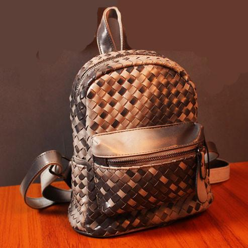 Unqiue Weave Glossy Grid Fashion Backpacks For Big Sale!- Fowish.com