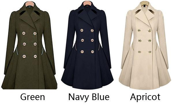 Fashion Trench Double-Breasted Slim Bodycon Wool Jacket Coat For Big Sale!- Fowish.com