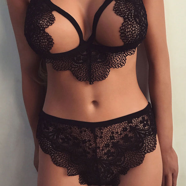 Sexy Lace Black White Perspective Sling Intimate Women Lingerie