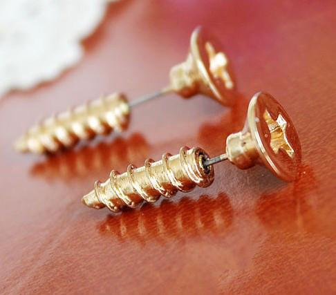 Funny Punk Screw Earring Studs - lilyby