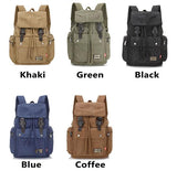 Retro Men's Travel Bag Large Canvas School Bag Student Rucksack Camping Backpack For Big Sale!- Fowish.com