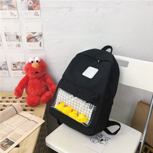 Cute  Elephant Pig Doll Student Bag Cartoon Duck Simple School Backpack