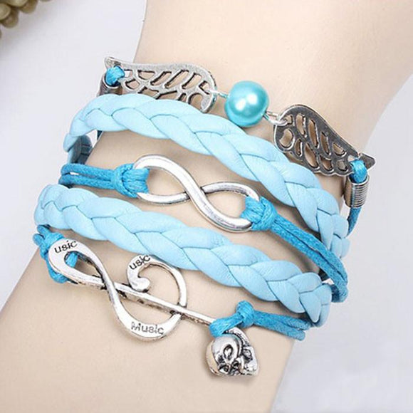 Cute Note Angel Wing Infinity Bracelet - lilyby