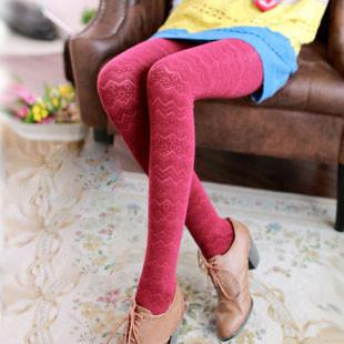 Wave Pattern Cotton Pantyhose/Socks/Stockings For Big Sale!- Fowish.com