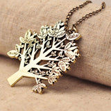 Christmas Tree Bird Sweater Necklace - lilyby