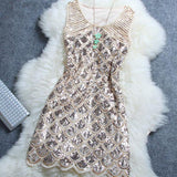 Unique Starry Beaded Sequined Woman Dress For Big Sale!- Fowish.com