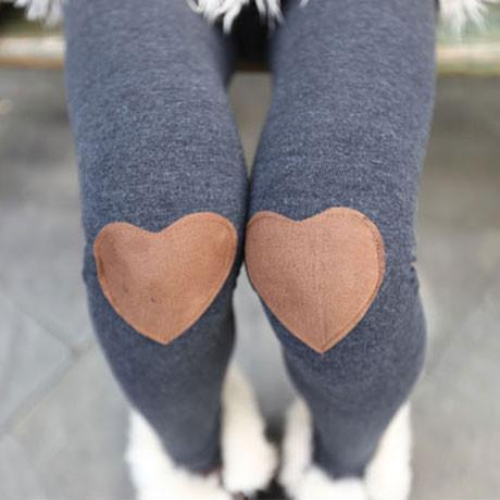 Fashion New Knee Love Patch Leggings - lilyby