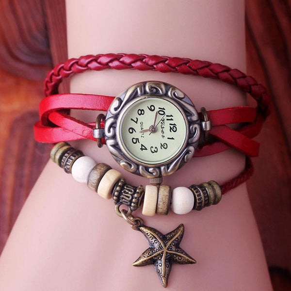 Romantic Bead Star Weave Bracelet Watch - lilyby