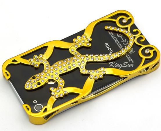 Hollow Gecko Rhinestone Iphone Case for Iphone 4/4s/5 - lilyby