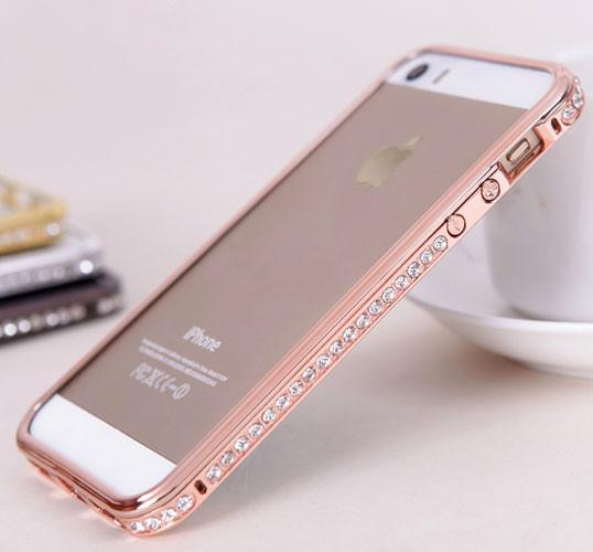 New Metal Diamond Border Iphone Case - lilyby