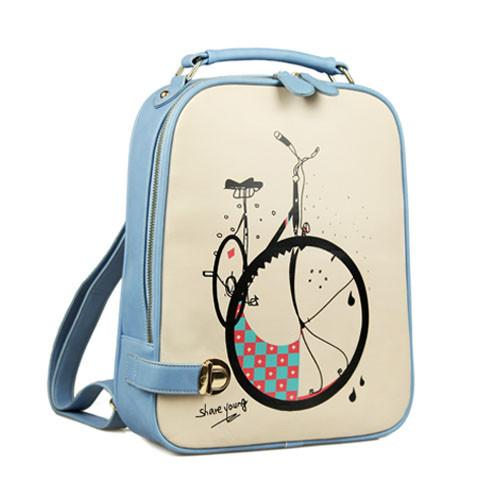 New College Style Fresh Cartoon Pu Schoolbags - lilyby