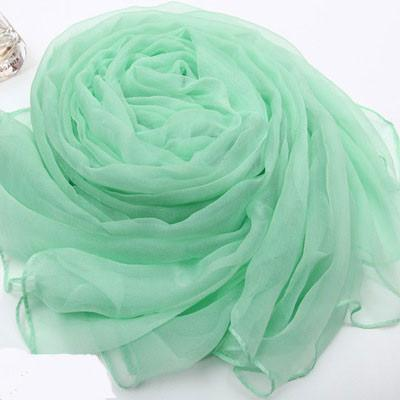Soft Pure Color Mulberry Silk Chiffon Scarf For Big Sale!- Fowish.com