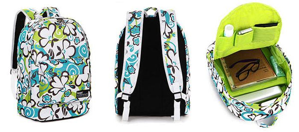 Unique Blue Green Graffiti Waterproof School Backpack For Big Sale!- Fowish.com