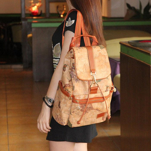 Retro Leisure World Map Leather Backpacks For Big Sale!- Fowish.com