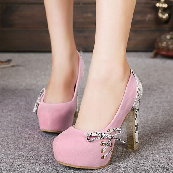 Graceful Bowknot Knot High Heels Party Shoes - lilyby