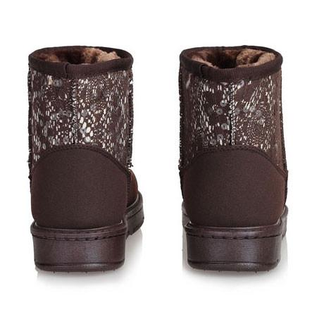 Sequin Waterproof Ladies Cotton Snow Boots For Big Sale!- Fowish.com
