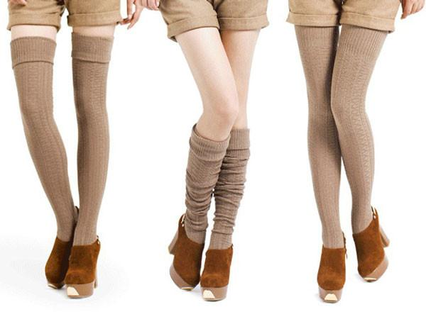 Warm Turnup Cable-Knit Long Cotton Stockings For Big Sale!- Fowish.com
