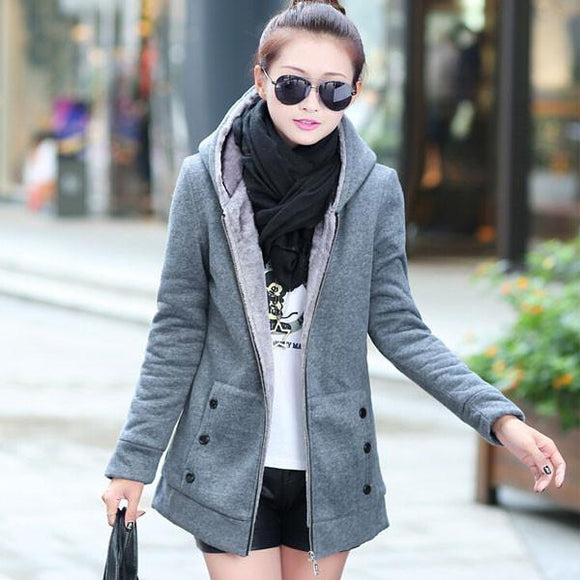 Thick Velvet Sweater Hooded Jacket Coat For Big Sale!- Fowish.com