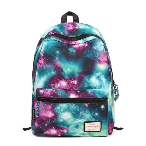 Fashion Galaxy Shining Girls School Canvas Backpacks - lilyby