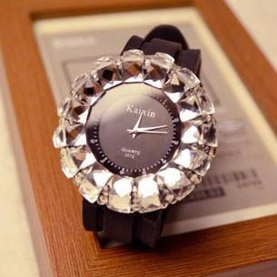 New Big Dial Rhinestone Quartz Watch - lilyby