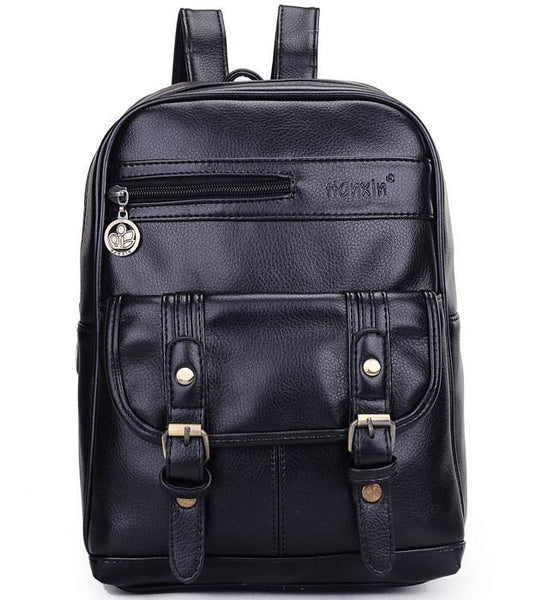 Retro Solid College Casual Student Backpacks - lilyby