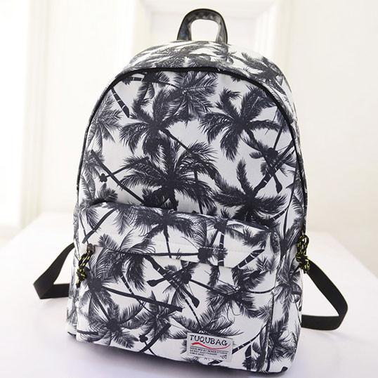 Fresh Tree printed College Canvas Backpacks - lilyby