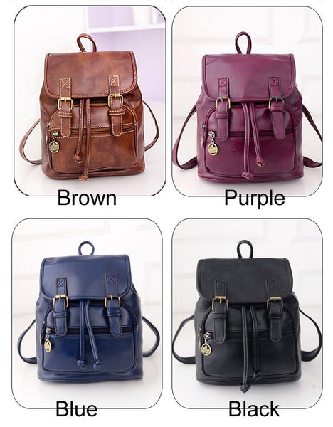 Leisure PU Classical Summer College Backpacks - lilyby