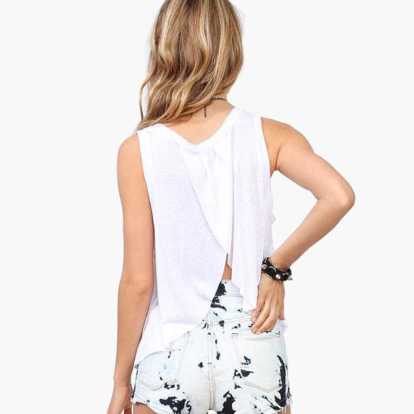 Fashion Fatima Hand Pattern Printing Layered Halter Vest - lilyby