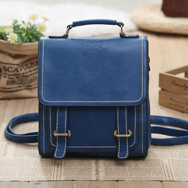 Retro Original Double Belt College Backpacks - lilyby