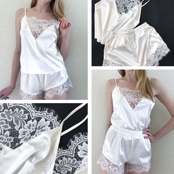 Sexy Lace Pajamas Top Shorts Lace Sling Women Lingerie