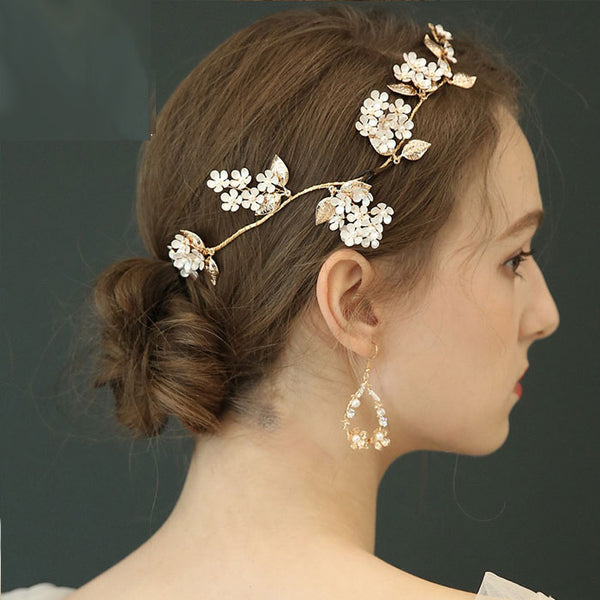 Fresh Original Bridal Hairpin Flower Branch Leaves Wedding Hair Accessories