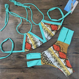 Vintage Printing Bikini Swimsuit Kiss Swimwear Bathingsuit For Big Sale!- Fowish.com