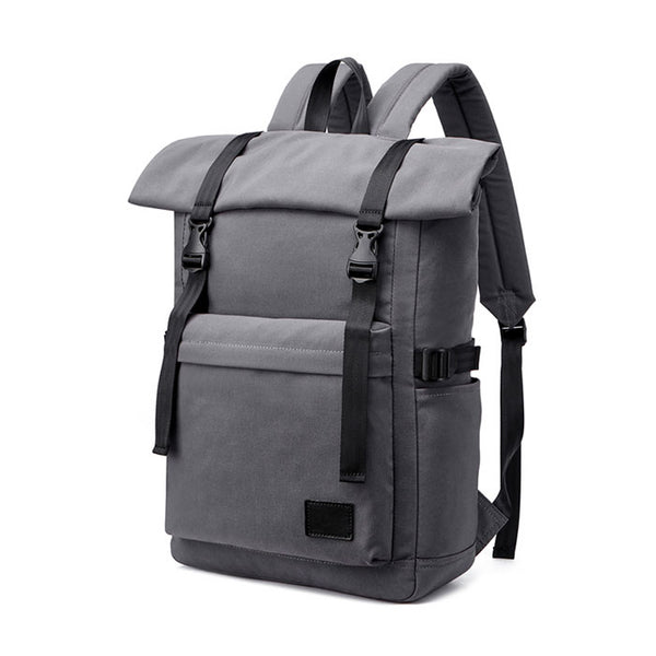 Fashion Double Buckle Outdoor Waterproof Backpack Business Computer Bag Laptop Travel Backpack