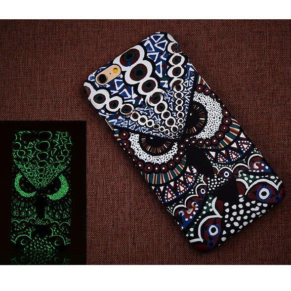 Creative Luminescent Matte Antelope Owl Hard Back Case Cover For Iphone 6/6plus - lilyby